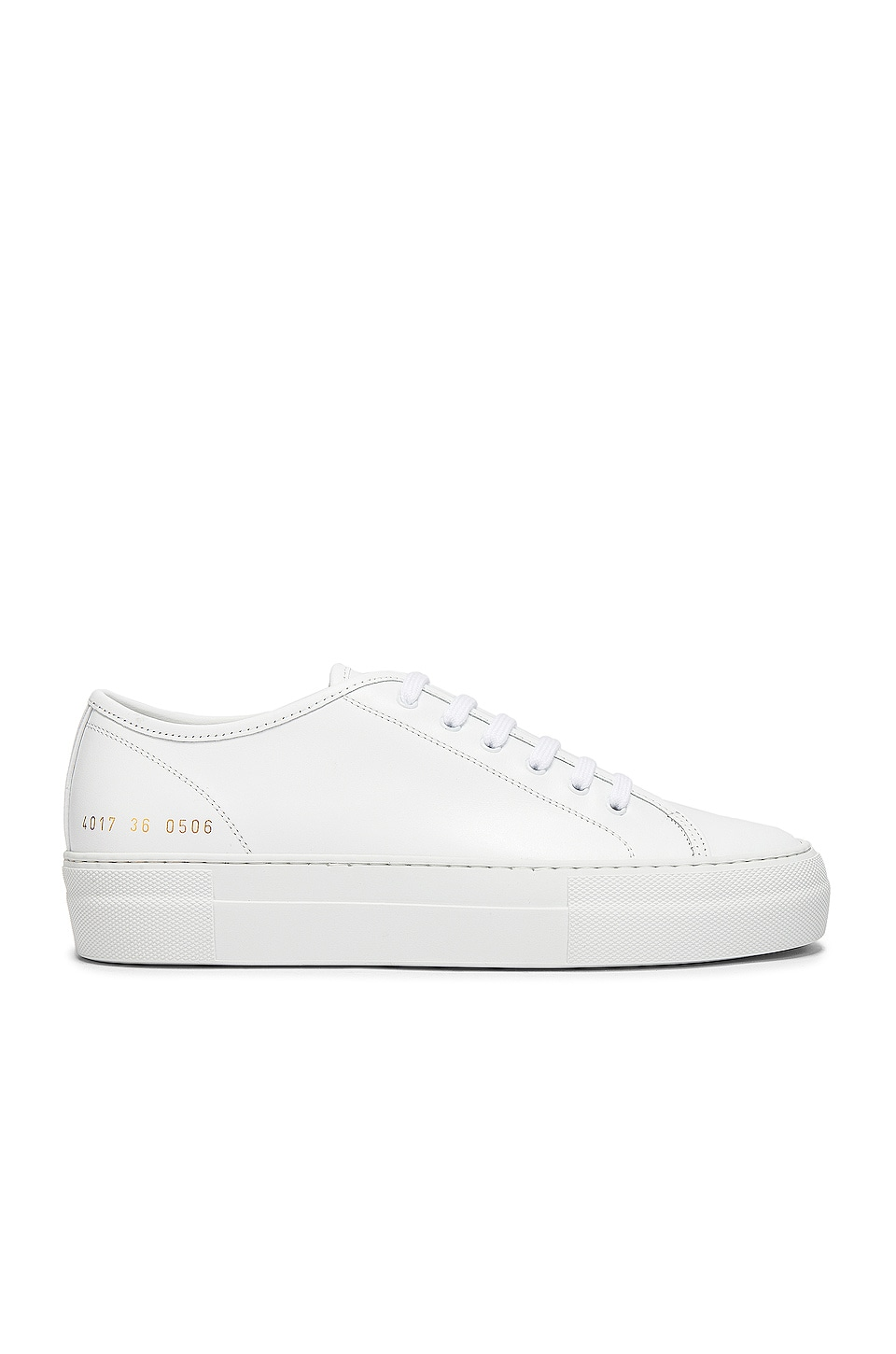 Common Projects Tournament Low Platform Super Sneaker in White