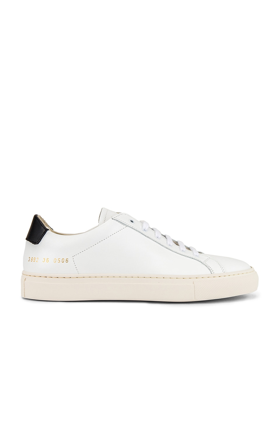 Common Projects Retro Low Sneaker in White & Black