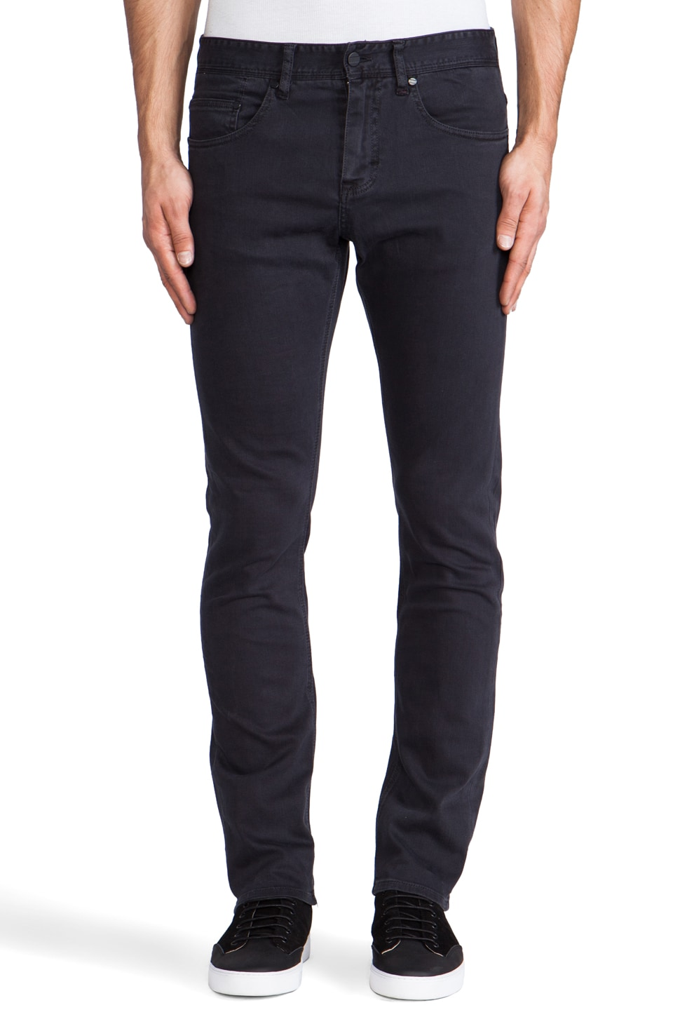 COMUNE David Slim Garment Dyed Jeans in Dark Navy