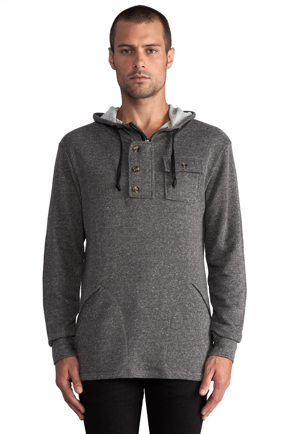 COMUNE Lamont French Terry Hoodie in Dark Charcoal