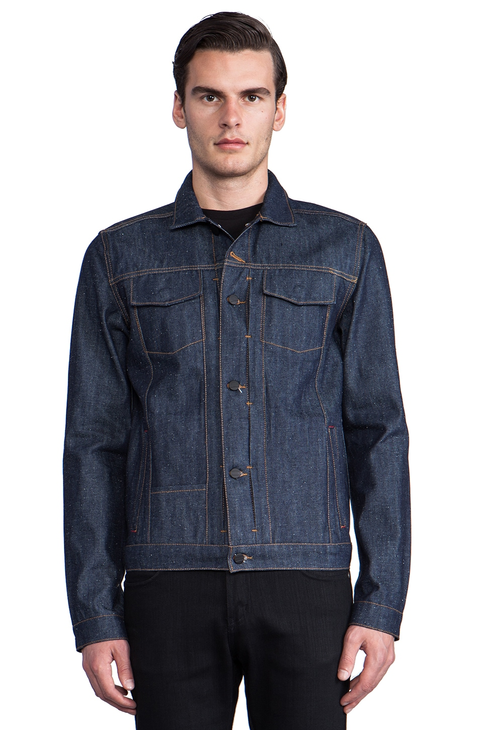 COMUNE Jay Denim Jacket in Indigo Picked