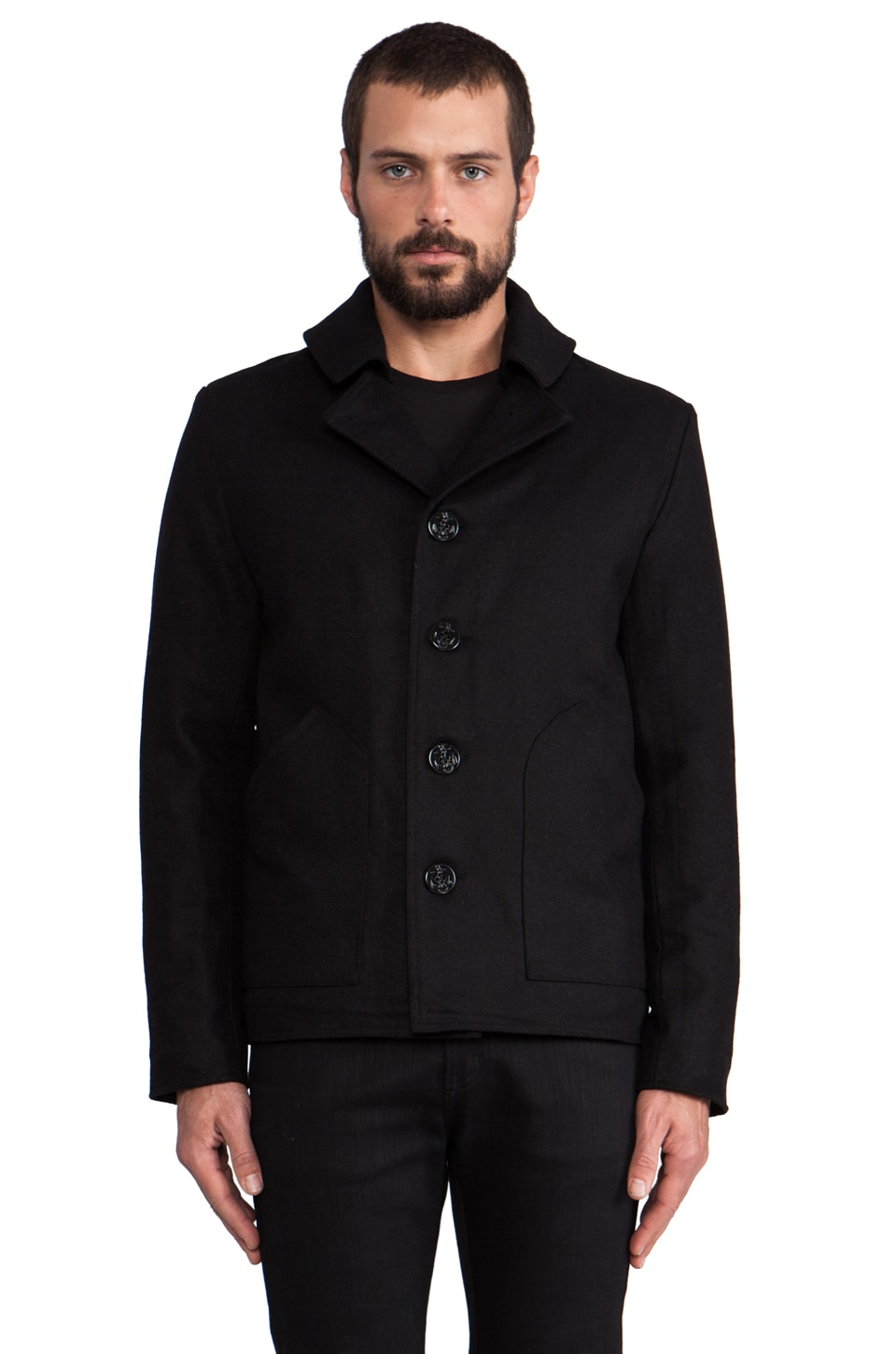 COMUNE Knowles Peacoat in Black