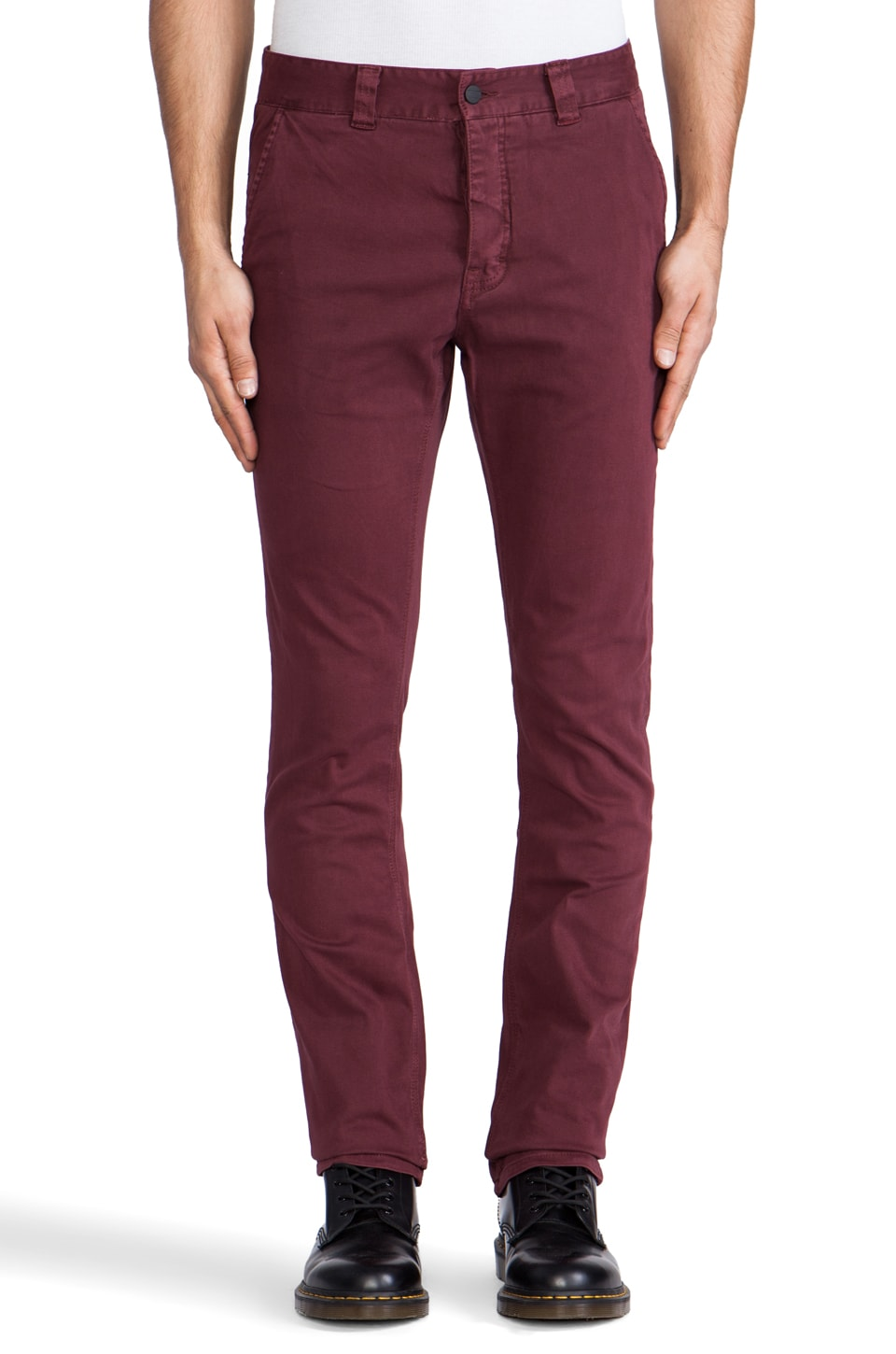COMUNE Raul Chino Pants in Oxblood