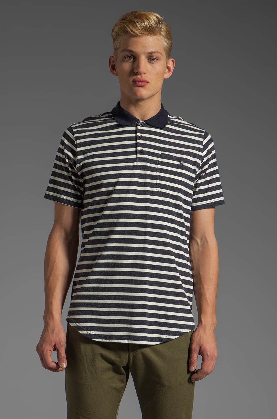 COMUNE CS Tyler Polo in Navy Stripe
