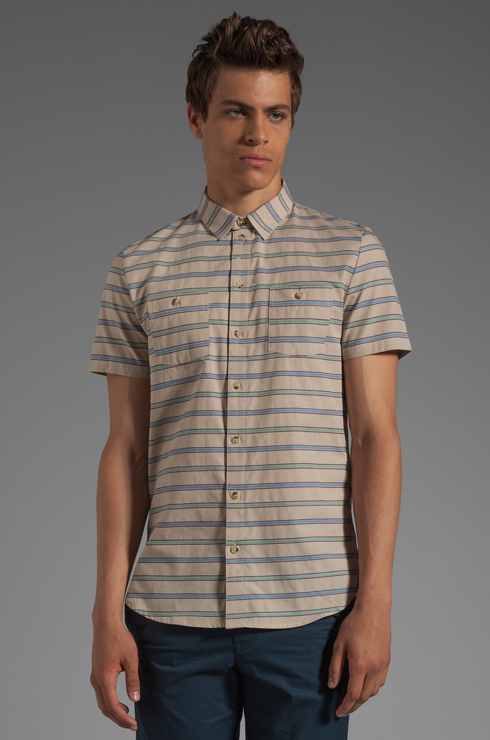 COMUNE Foster S/S Shirt in Tan