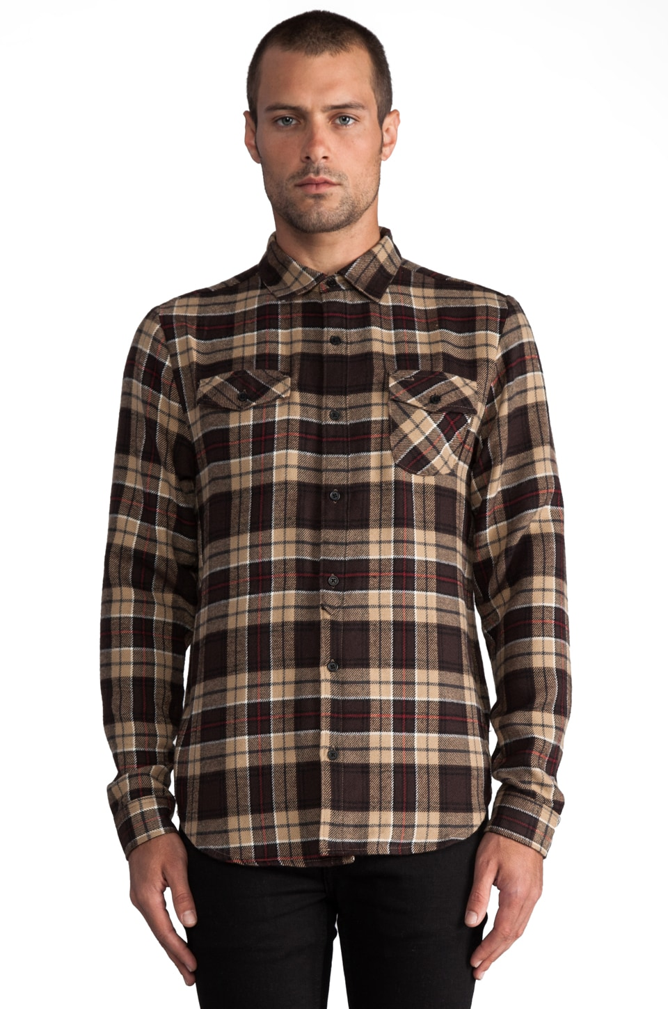 COMUNE Arbor L/S Flannel in Brown