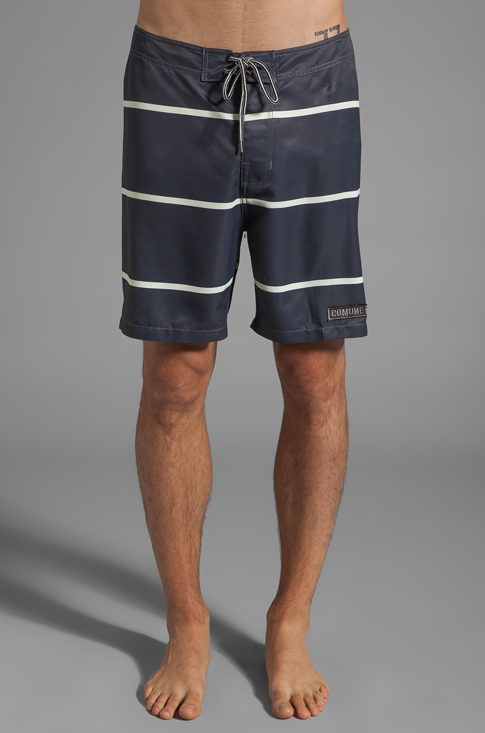 COMUNE Nelson Boardshort in Navy Stripe
