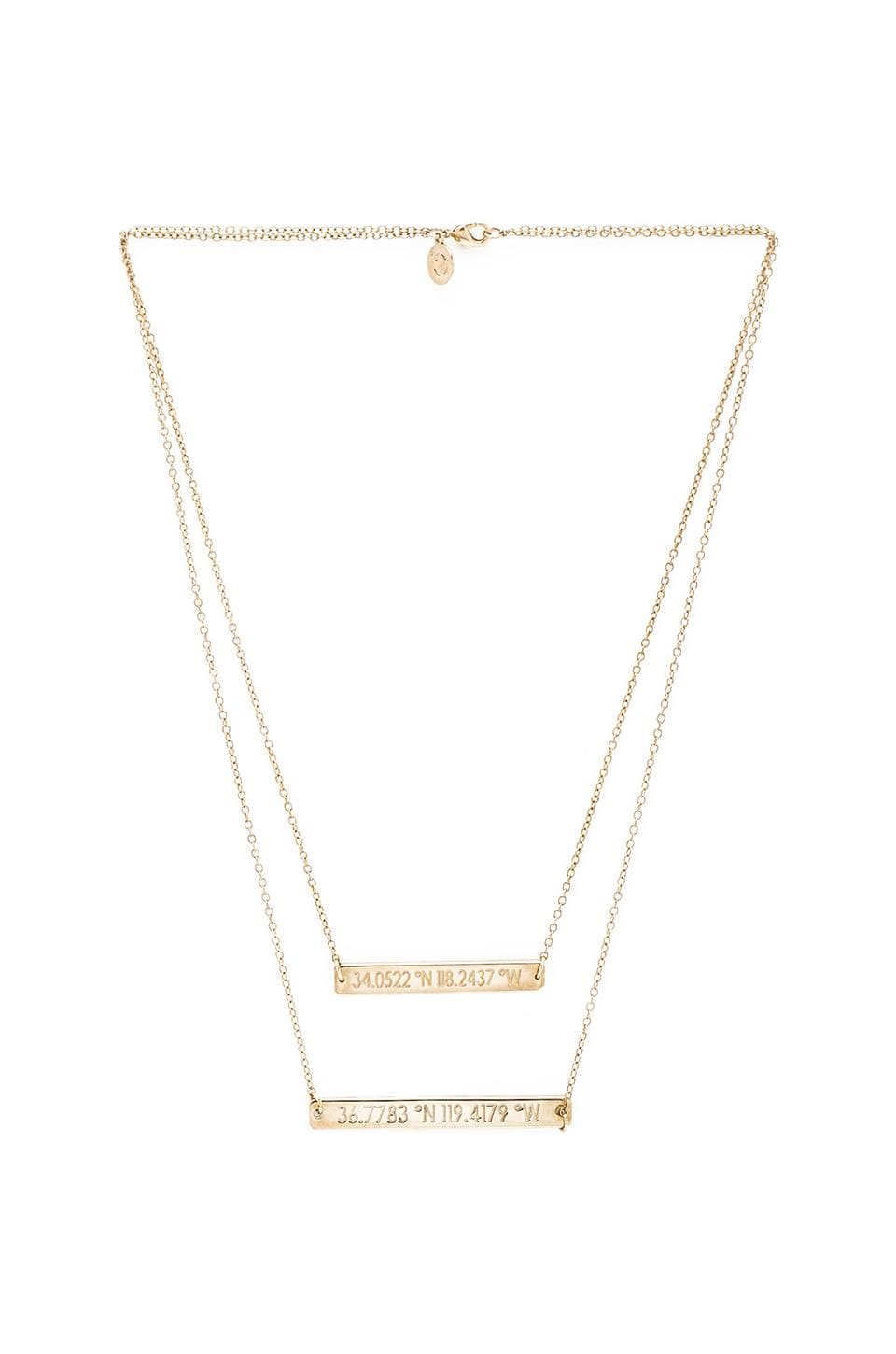 coordinates California Equator Necklace in Gold