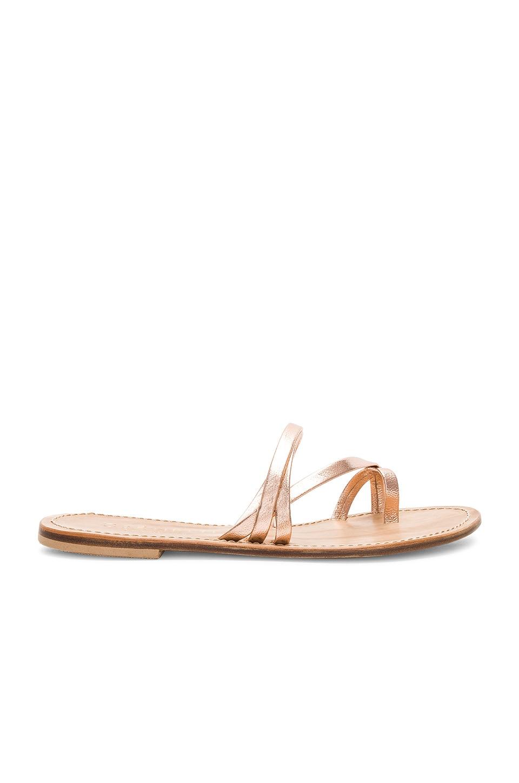 CoRNETTI Salina Sandal in Rose Gold Laminate Calfskin