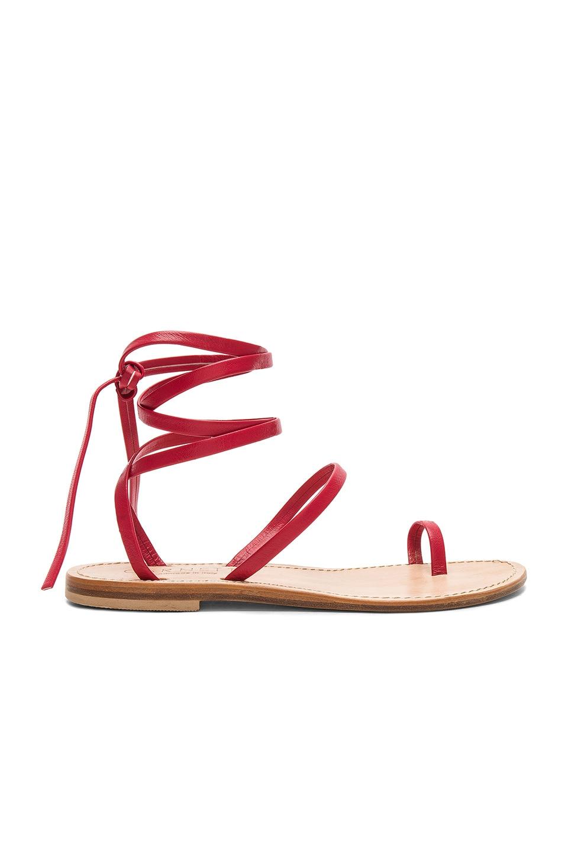 CORNETTI Alicudi Sandal In Red Calfskin