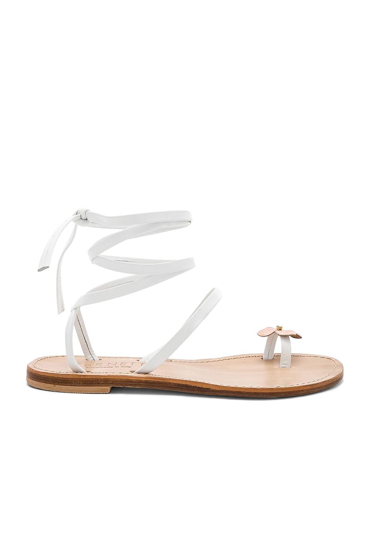 CoRNETTI Filicudi Sandal in White & Rose Gold Calfskin