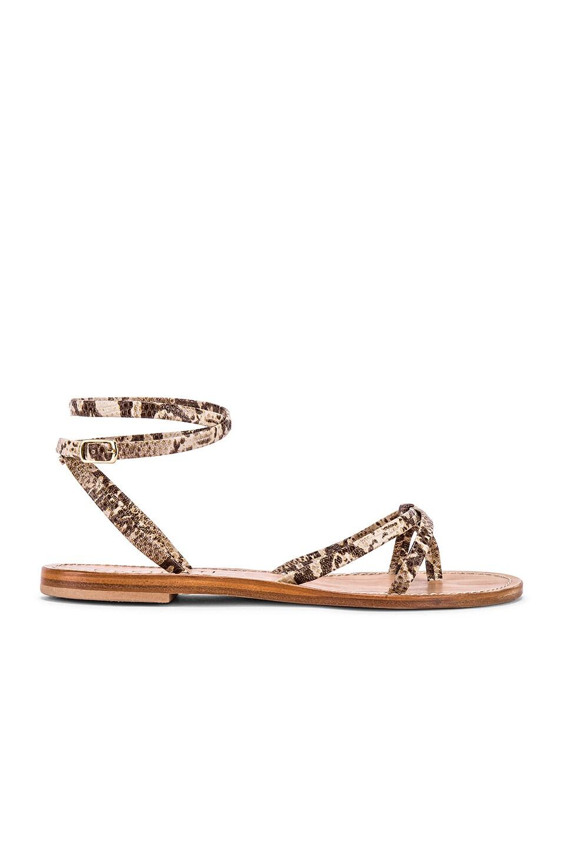 CoRNETTI Vulcanello Sandal in Beige Snake