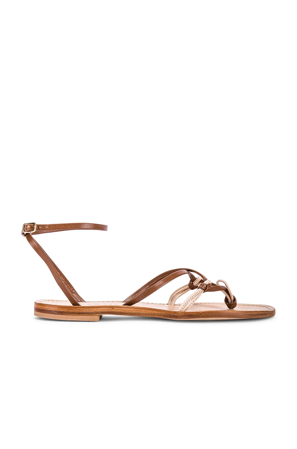 CoRNETTI Sofia Sandal in Umber & Natural