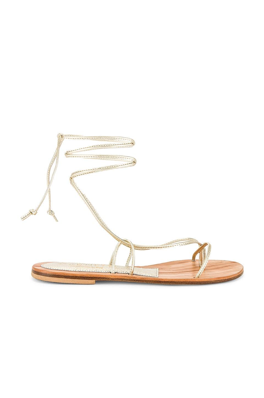 CoRNETTI Ermi Lace Up Sandal in Marbled Gold