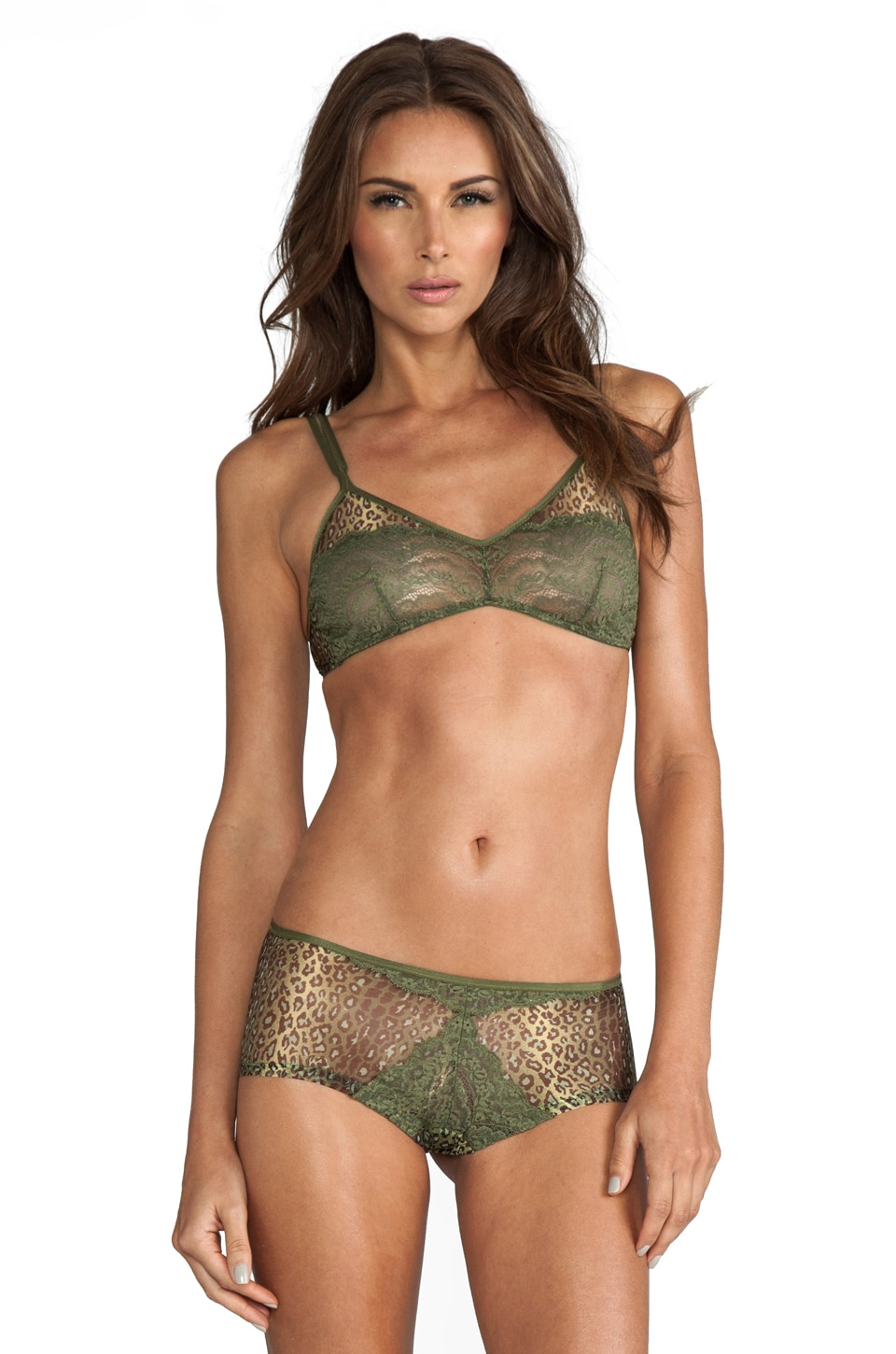Cosabella Elise Printed Soft Bra in Cypress