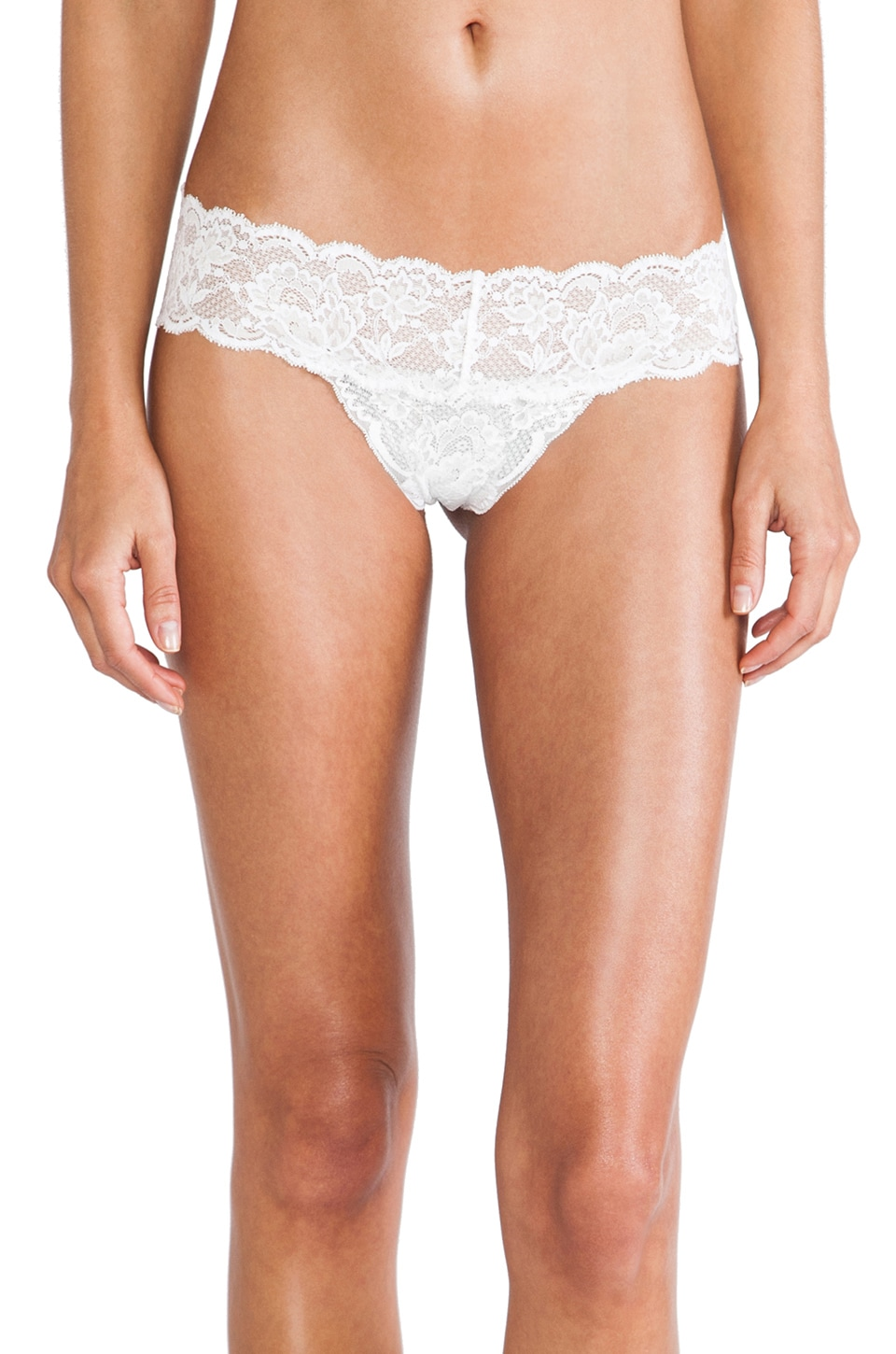Cosabella Never Say Never Cutie LR Thong in Fluro White