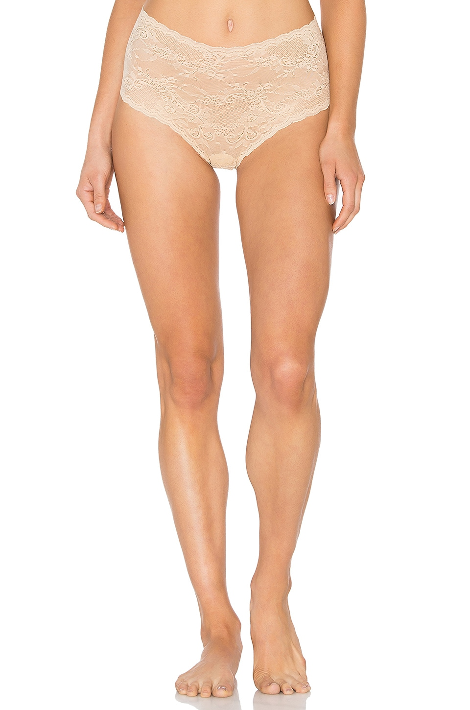 Cosabella Trenta High Rise Thong in Nude