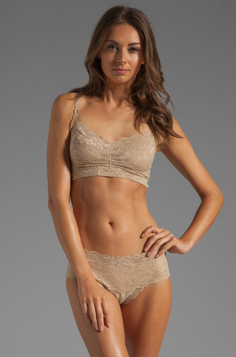 Cosabella Never Say Never Sweetie Soft Bra in Warm Taupe