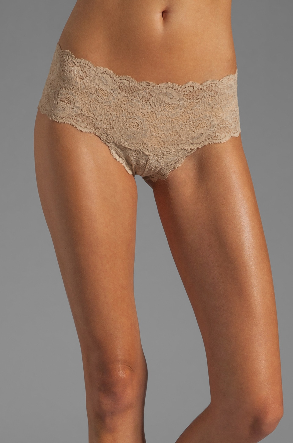 Cosabella Never Say Never Hottie Hotpant in Warm Taupe