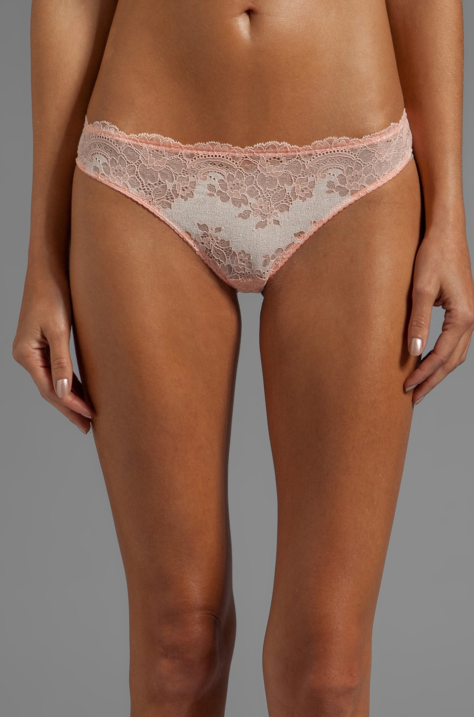 Cosabella Queen of Hearts LR Thong in Bellini/Sand