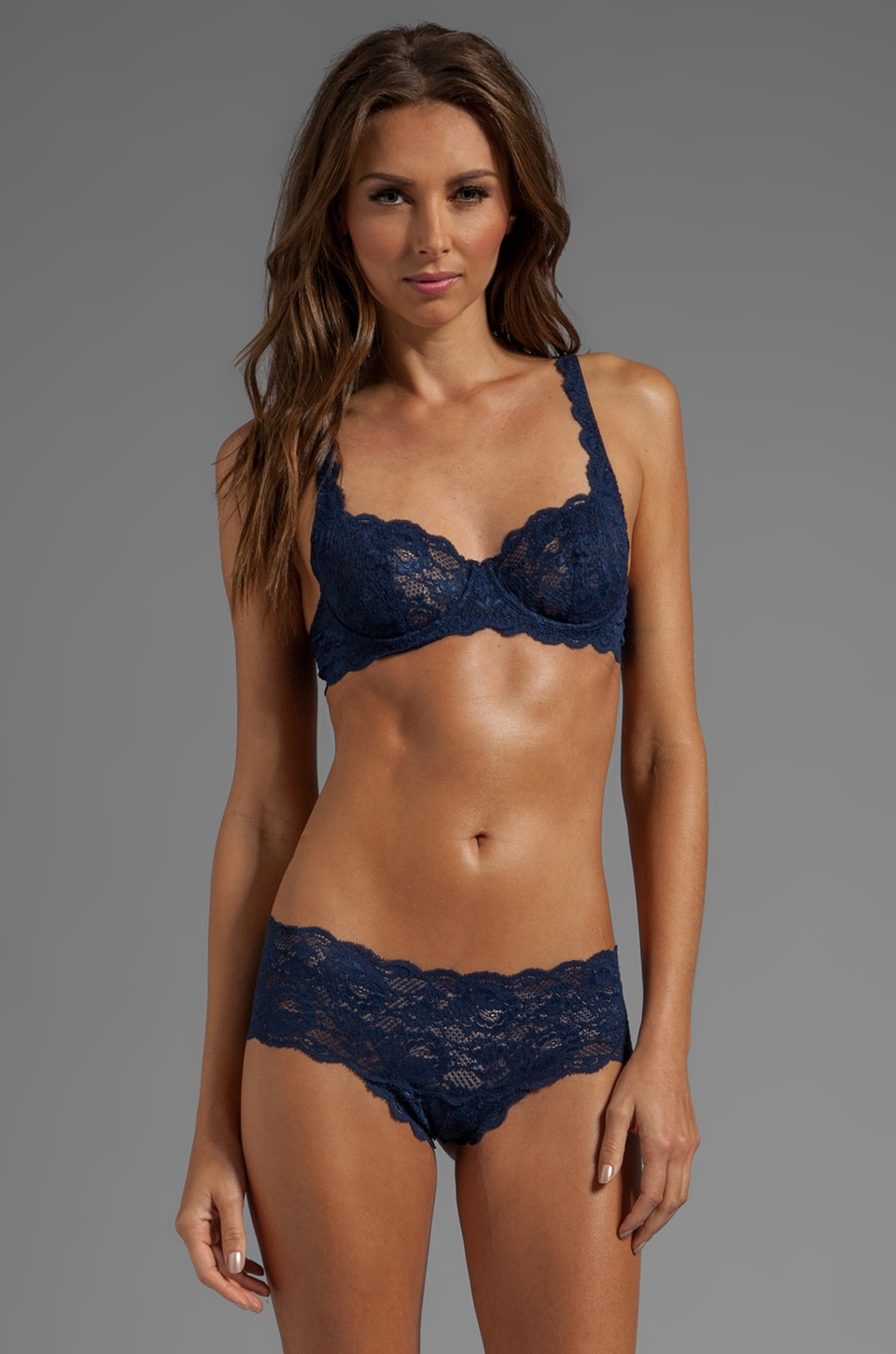 Cosabella Never Say Never Prettie Underwire Bra in Navy Blue