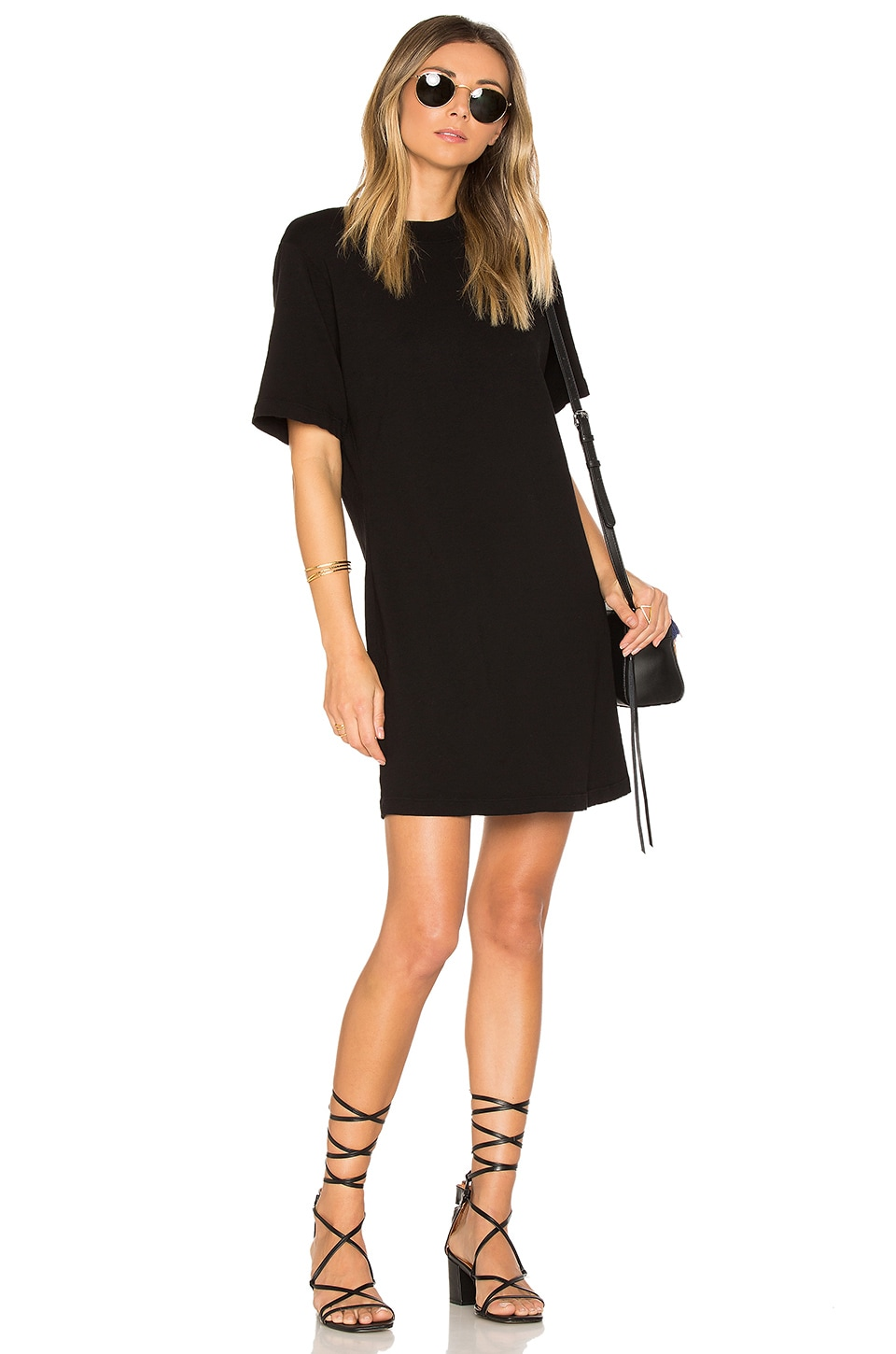COTTON CITIZEN The Tokyo Mini Dress in Jet Black