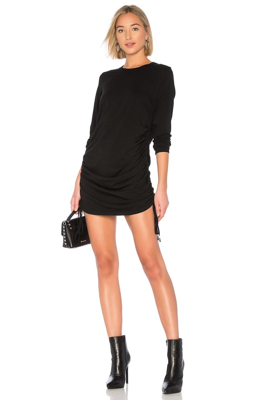 COTTON CITIZEN The Lisbon Shirt Dress in Jet Black