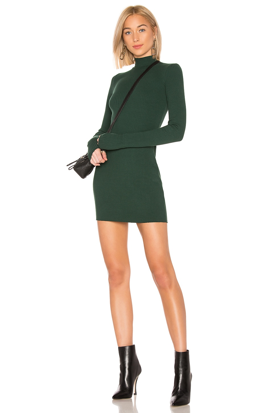 Cotton Citizen COTTON CITIZEN IBIZA DRESS IN GREEN.