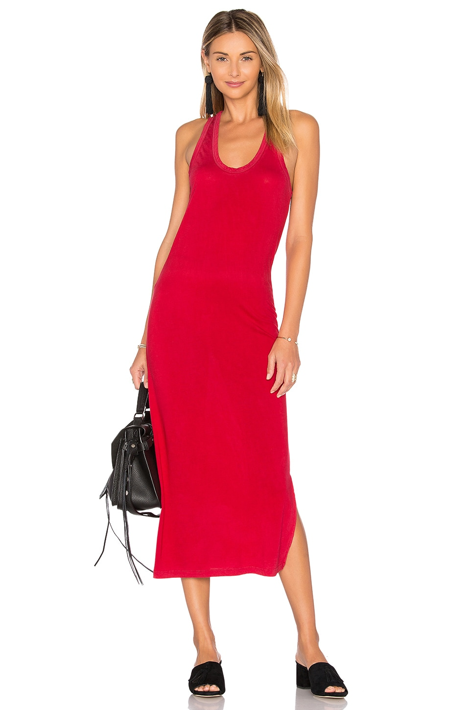 COTTON CITIZEN Mykonos Midi Dress in Crimson