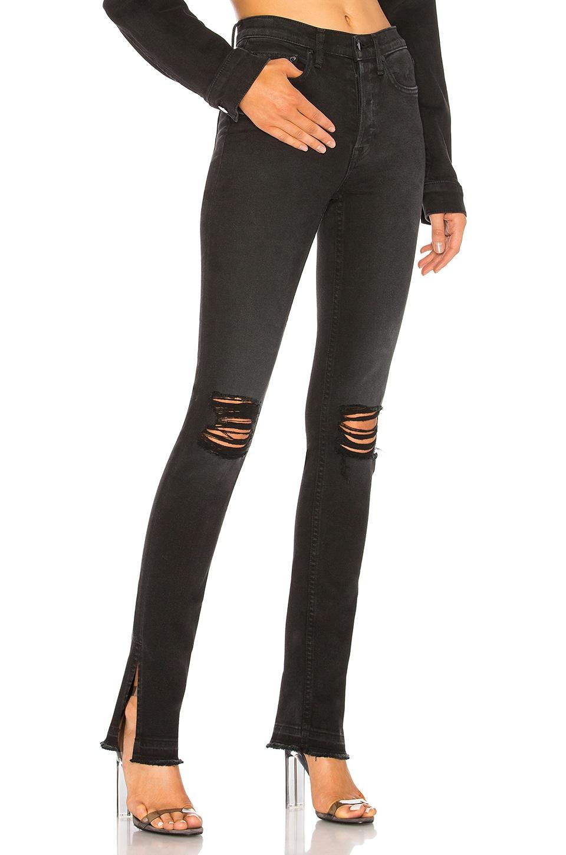 COTTON CITIZEN High Split Jean in Washed Black