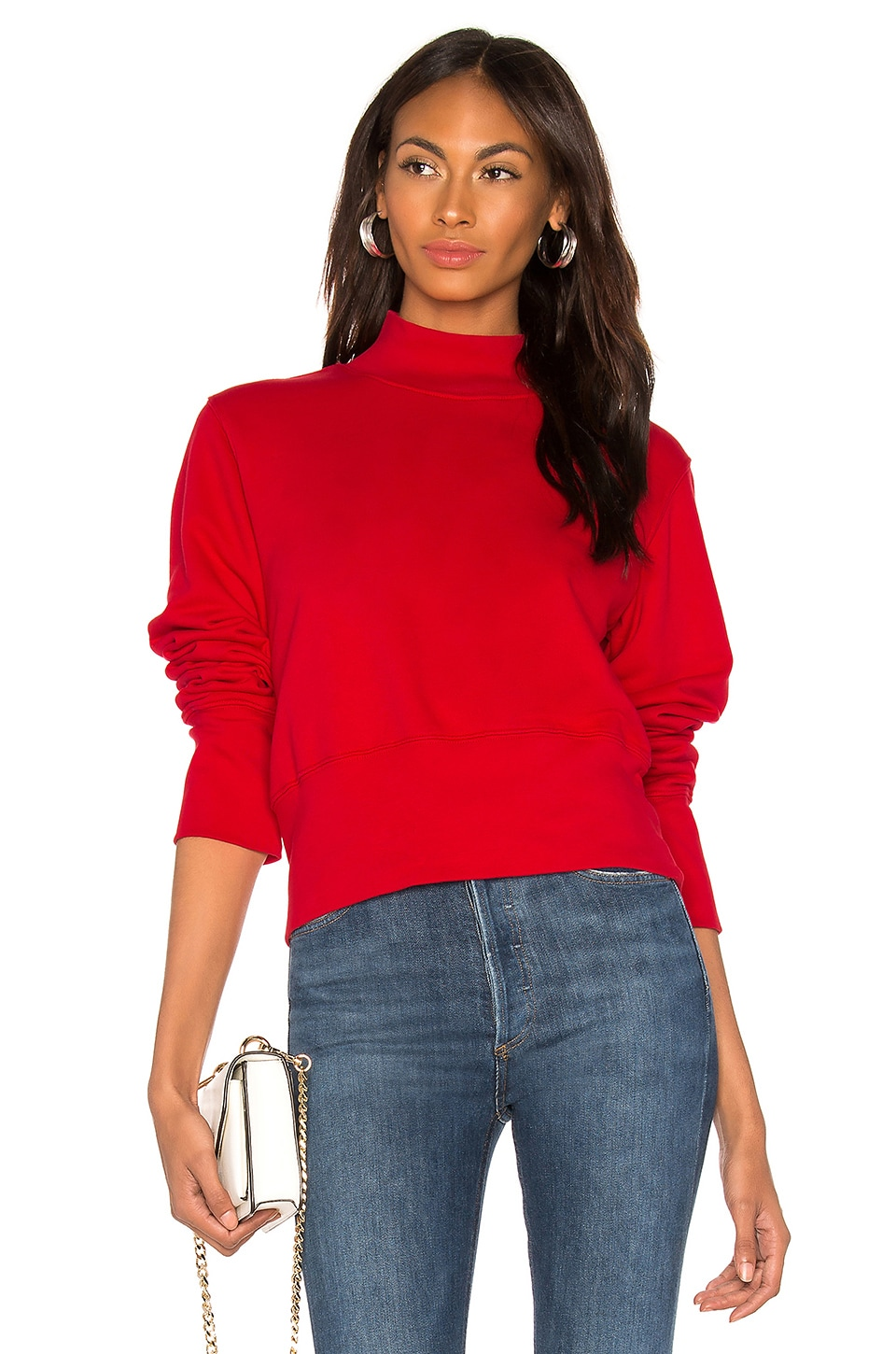 COTTON CITIZEN Milan Sweatshirt in Cherry