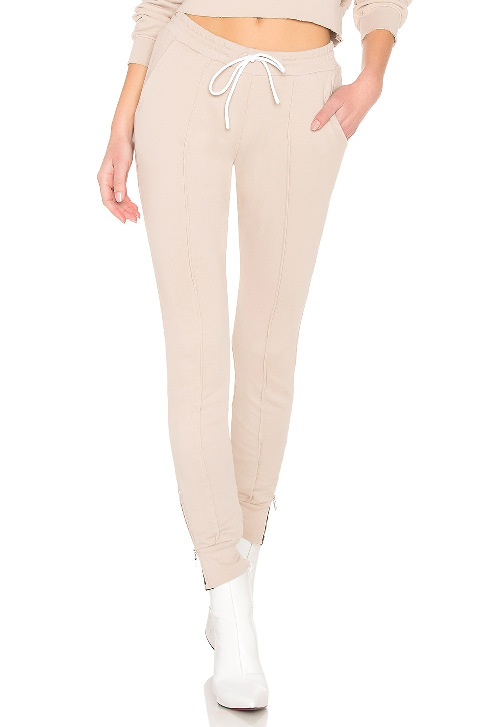 COTTON CITIZEN Milan Joggers With Ankle Zippers en Light Tan
