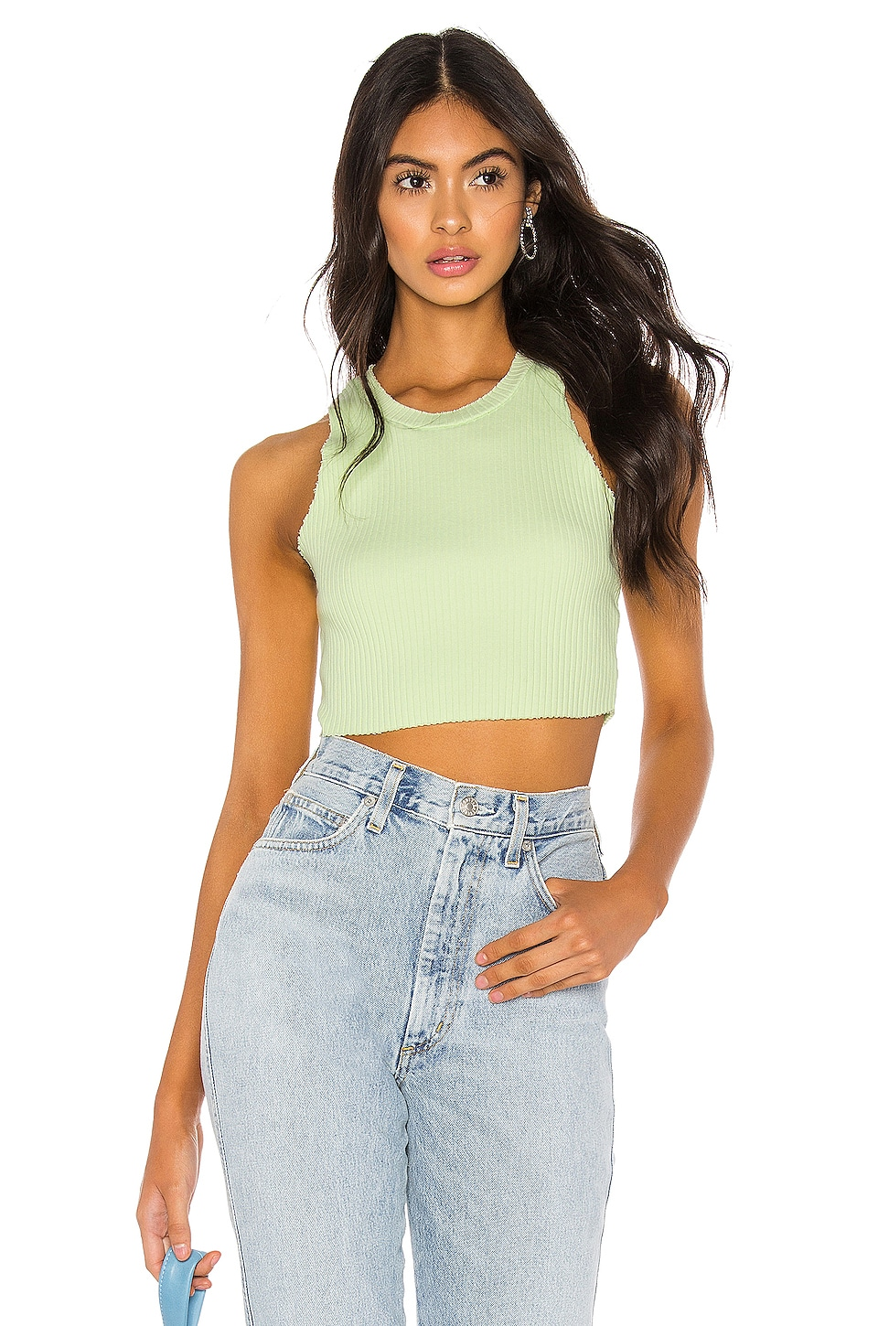 COTTON CITIZEN Ibiza Crop Tank in Citron