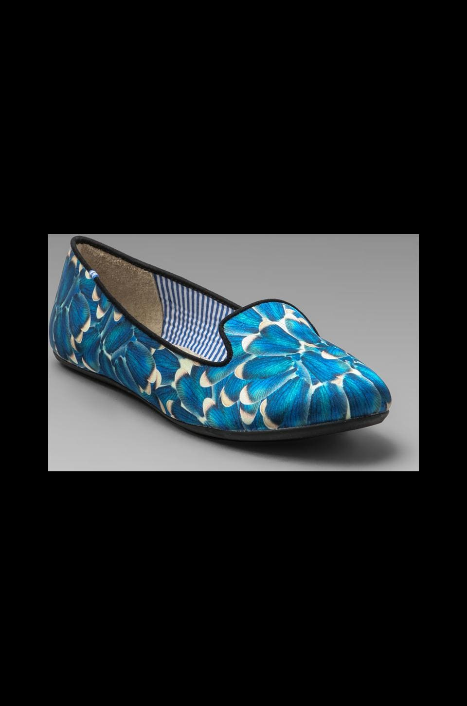 Charles Philip Shanghai Yasmine Feathers Flat in Blue Wings