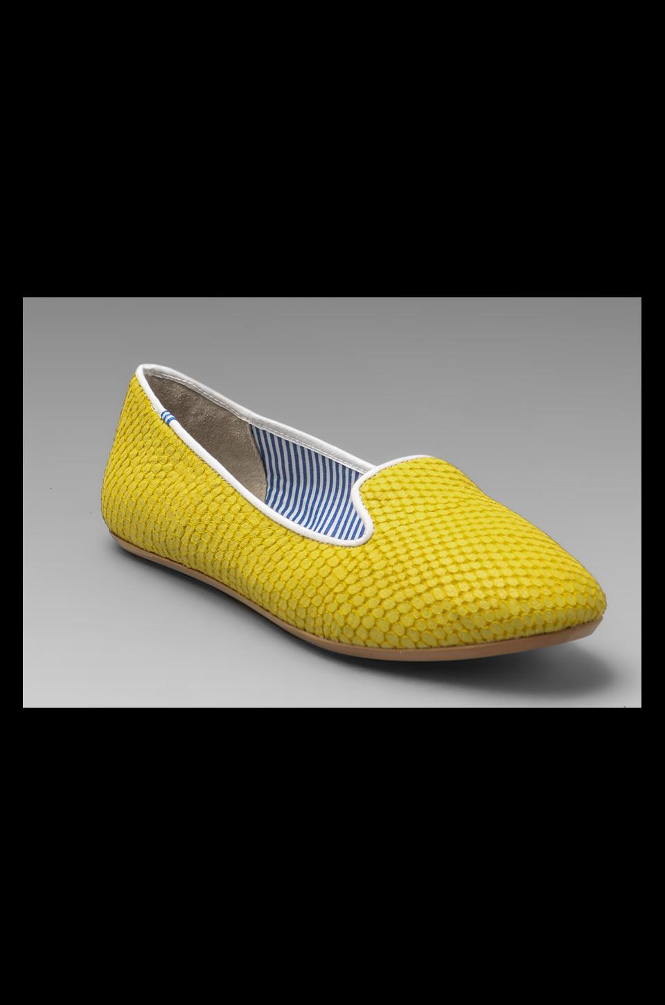 Charles Philip Shanghai Lizzette Flat in Yellow Python