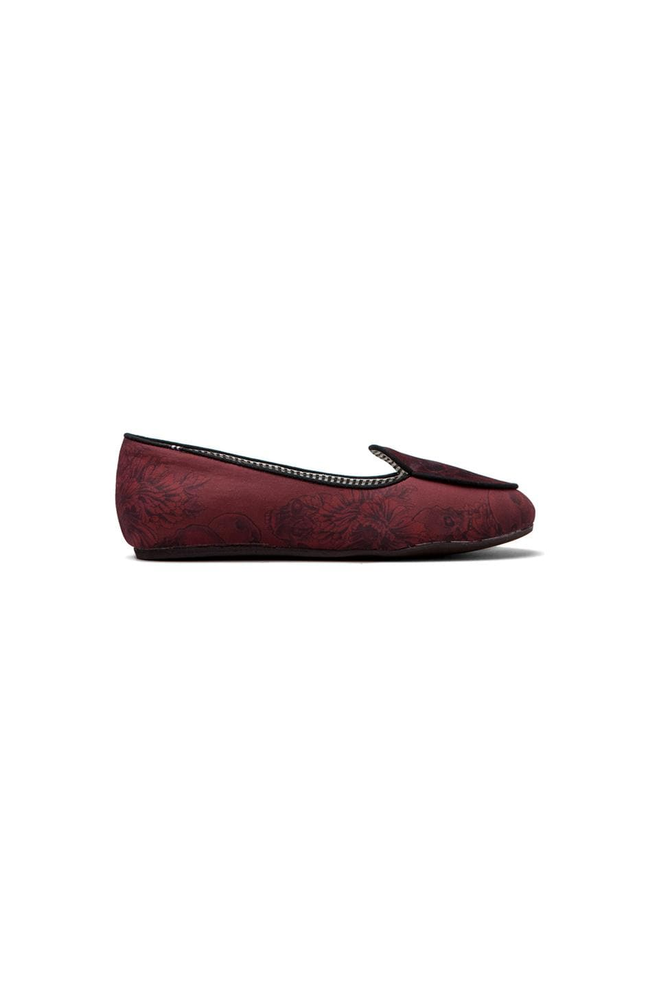 Charles Philip Shanghai Olimpia Flat in Skull Red/Black