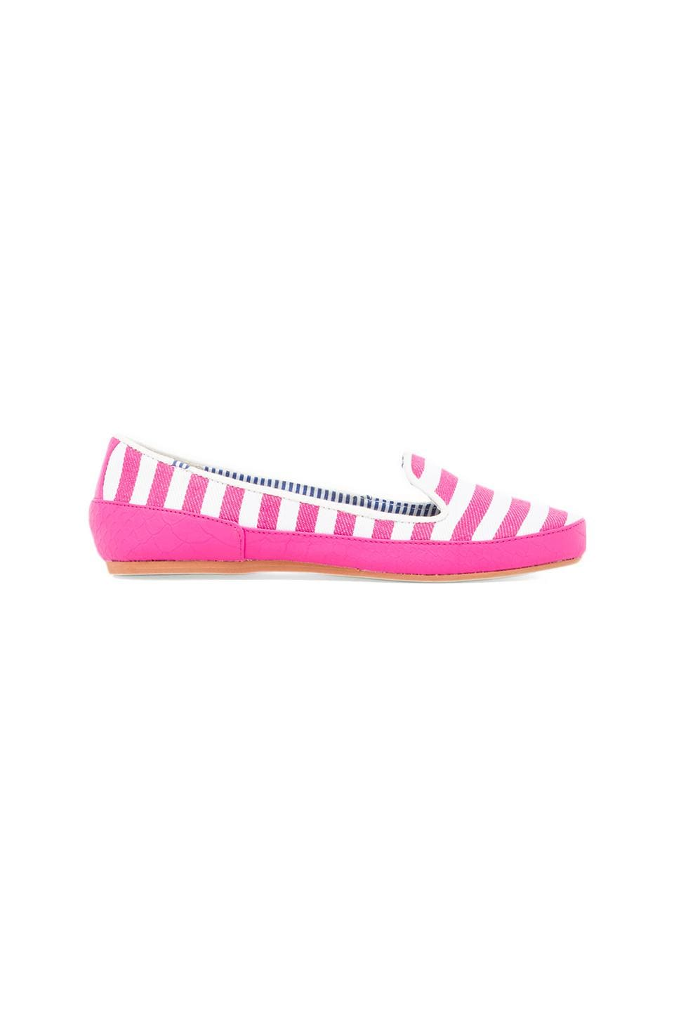 Charles Philip Shanghai Gaby Loafer in Pink Stripes