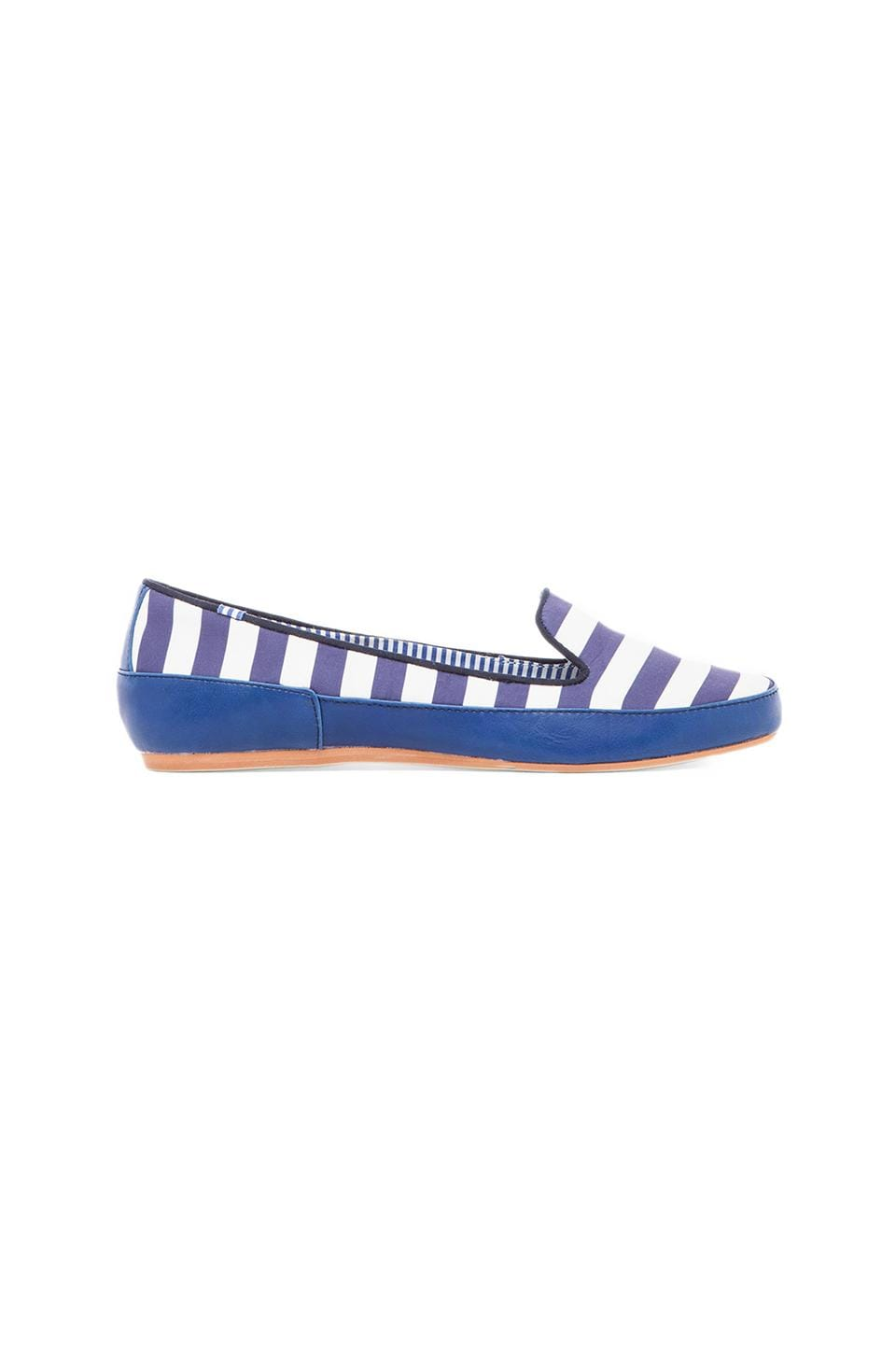 Charles Philip Shanghai Gaby Loafer in Navy Stripes