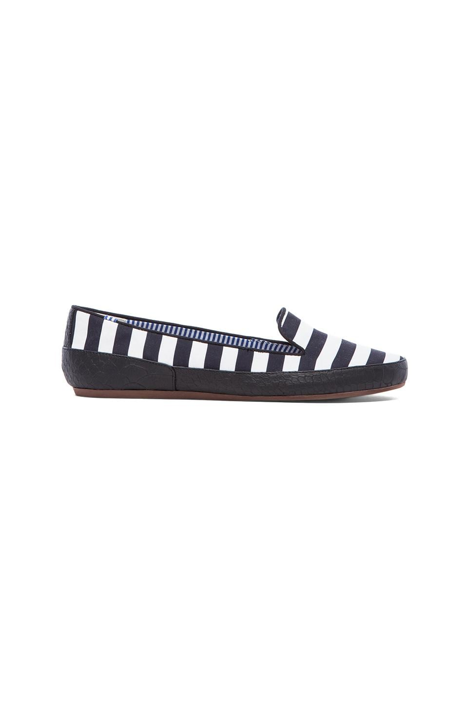 Charles Philip Shanghai Gaby Loafer in Black & White