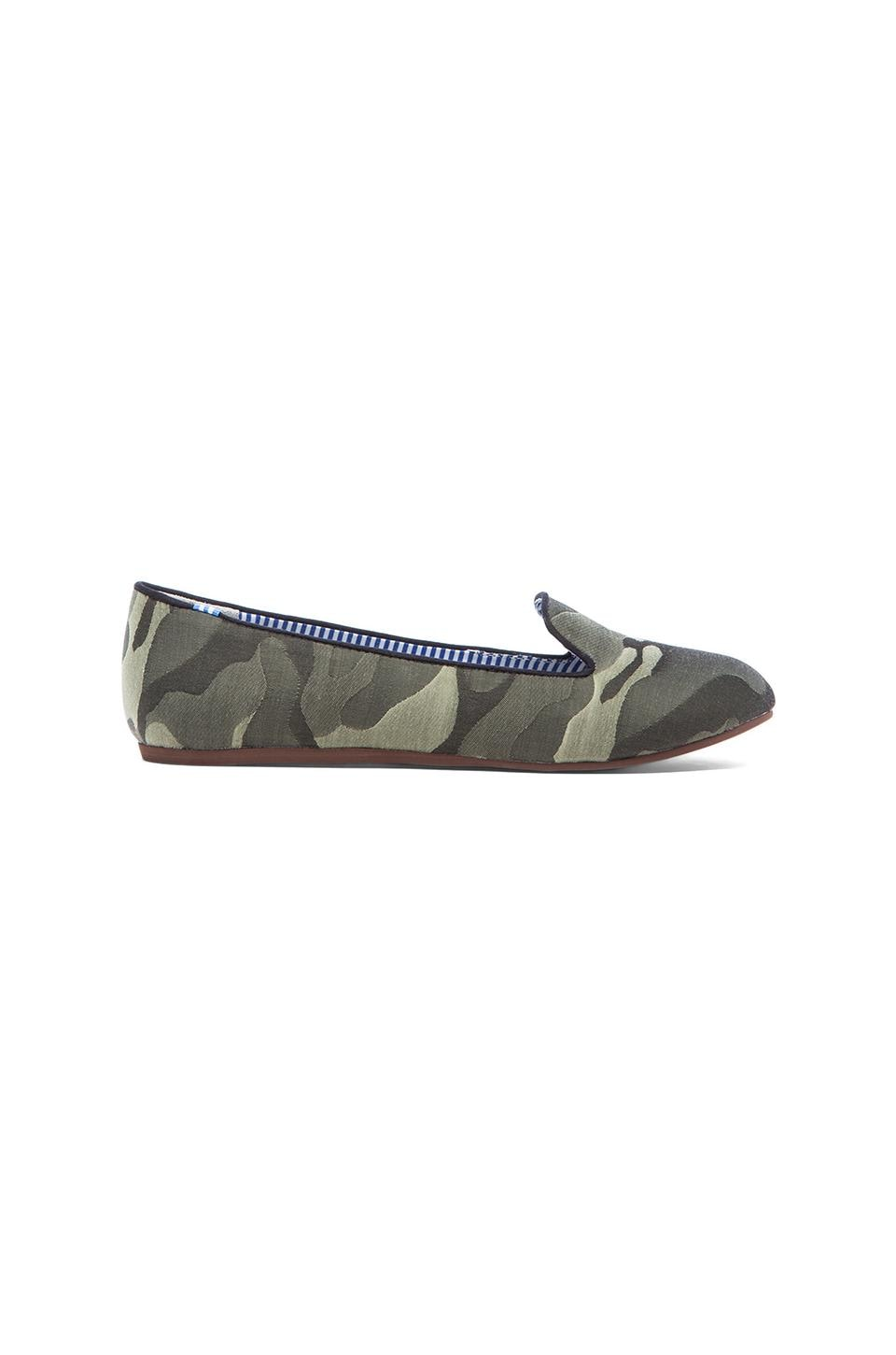 Charles Philip Shanghai Sheila Loafer in Military Green