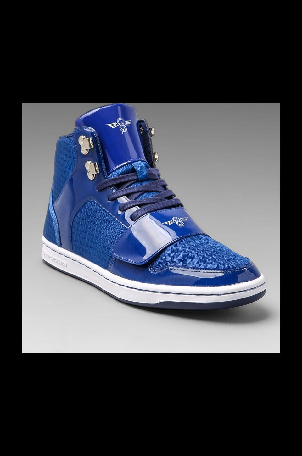 Creative Recreation Cesario in Blue Patent Ripstop