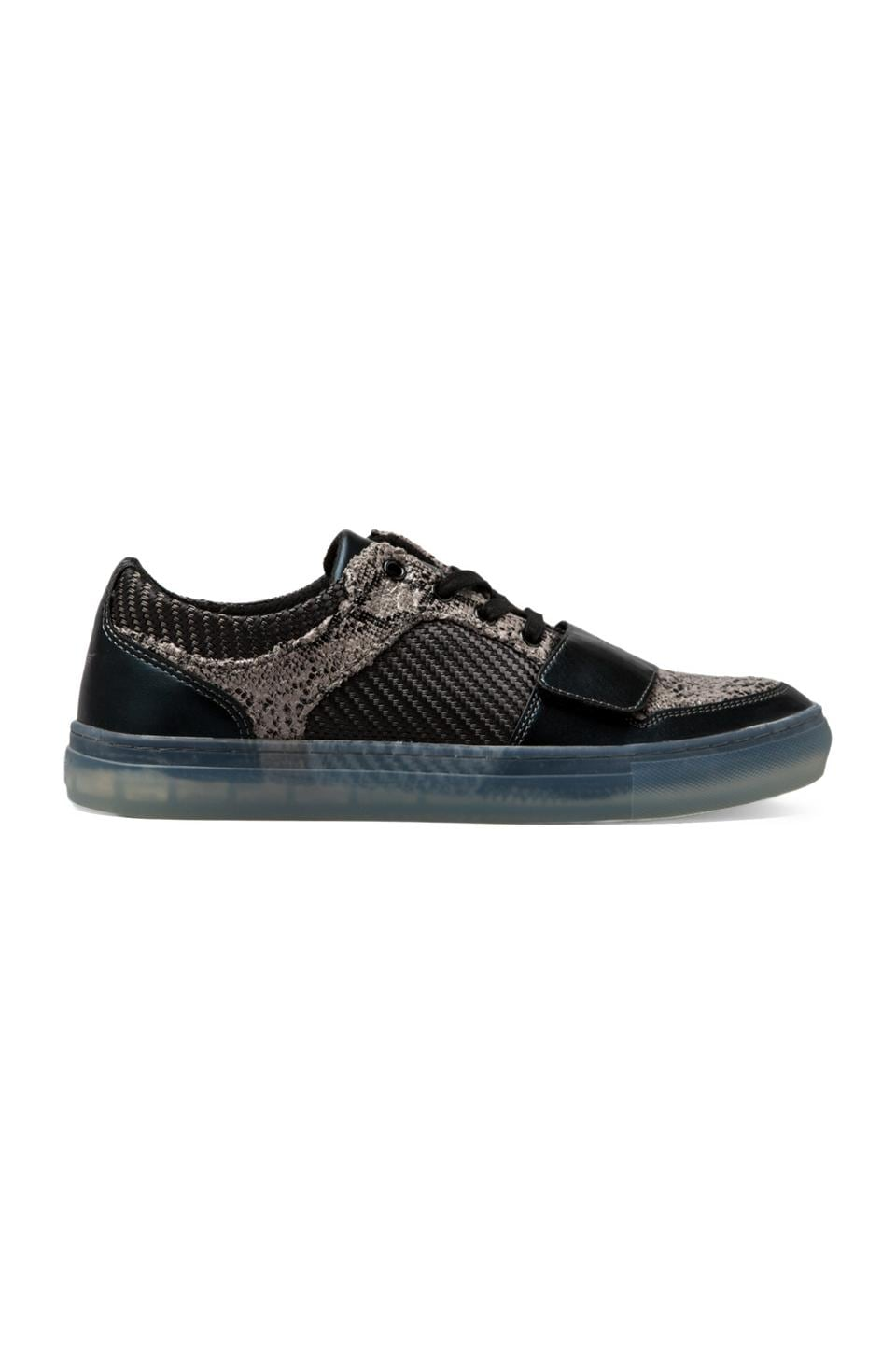 Creative Recreation Cesario Lo X in Black Charcoal Snake