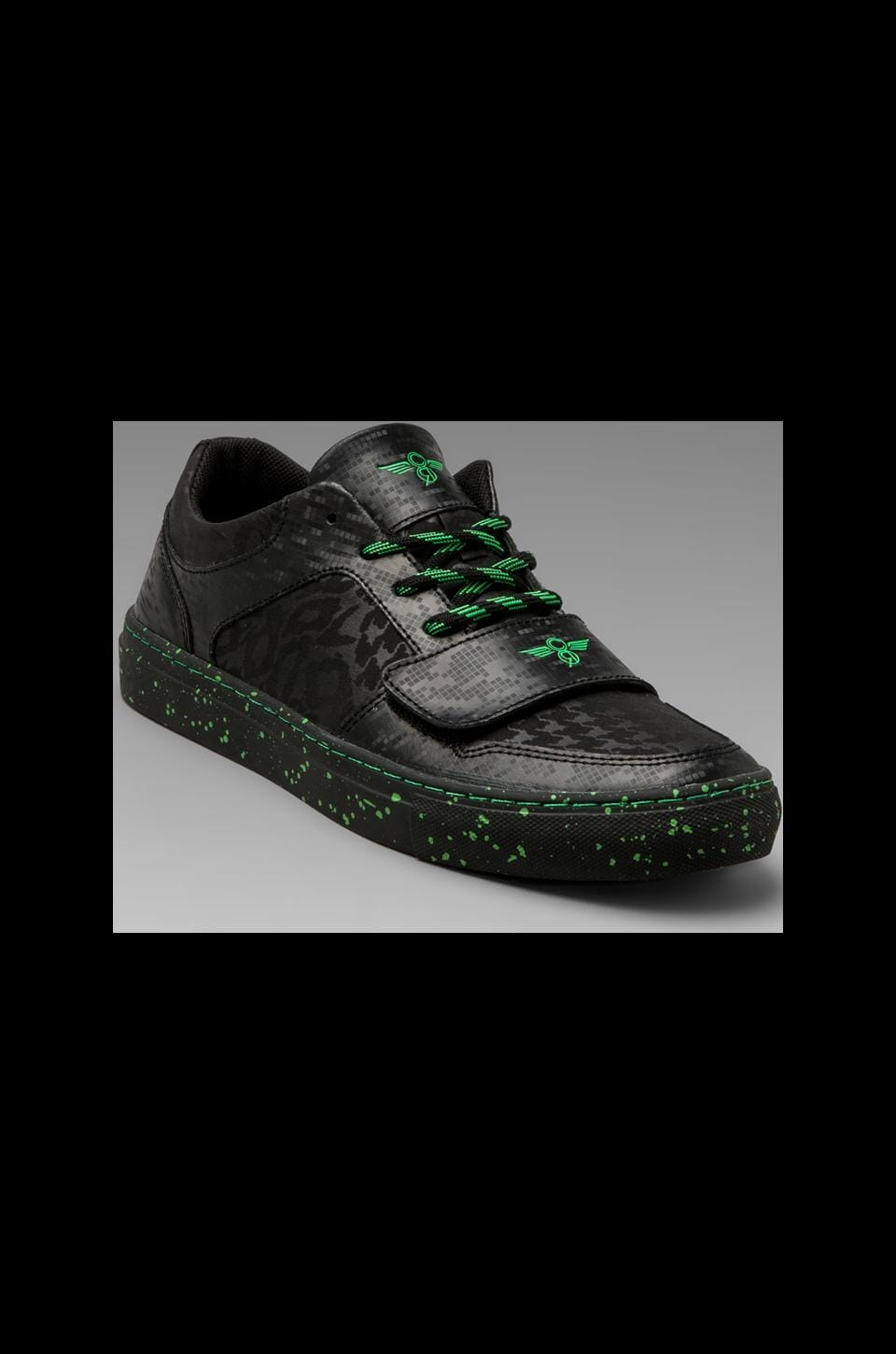 Creative Recreation Cesario Lo X in Black Tech Neon Green