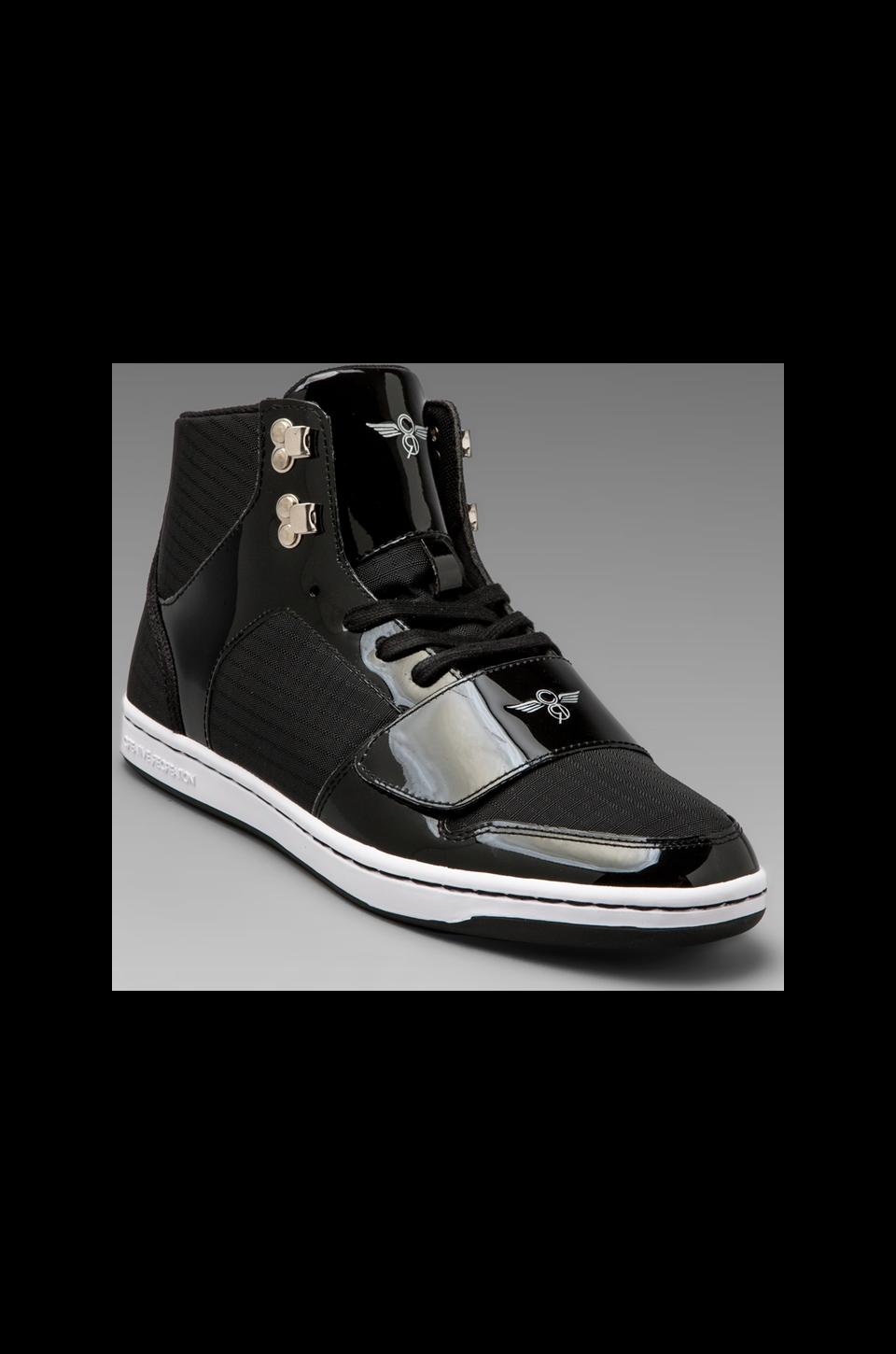Creative Recreation Cesario in Black Patent Ripstop