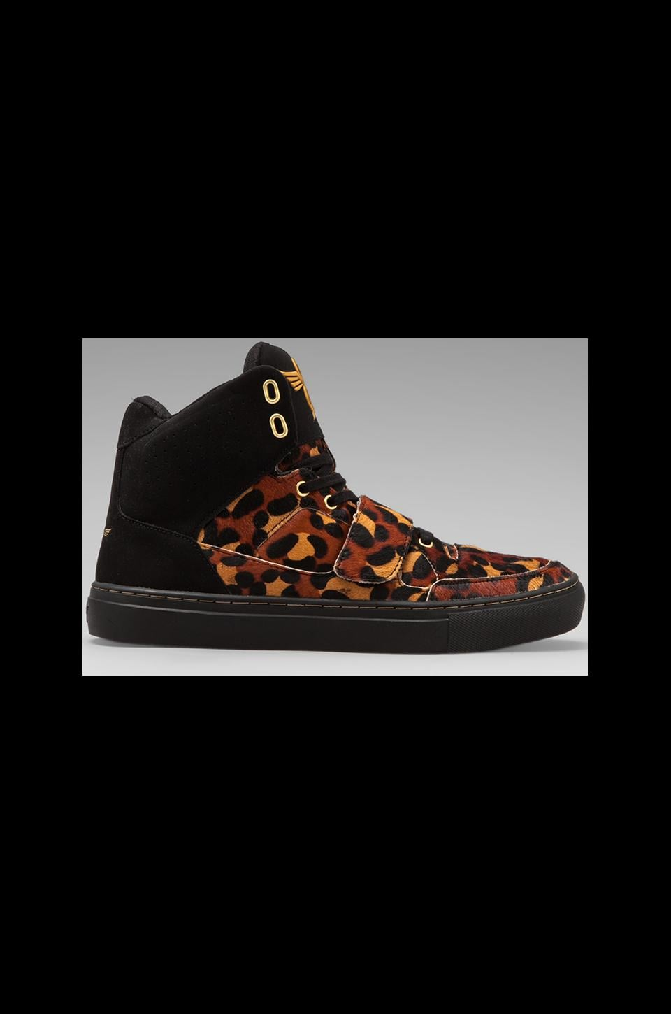Creative Recreation Cota in Leopard Mohair/Black