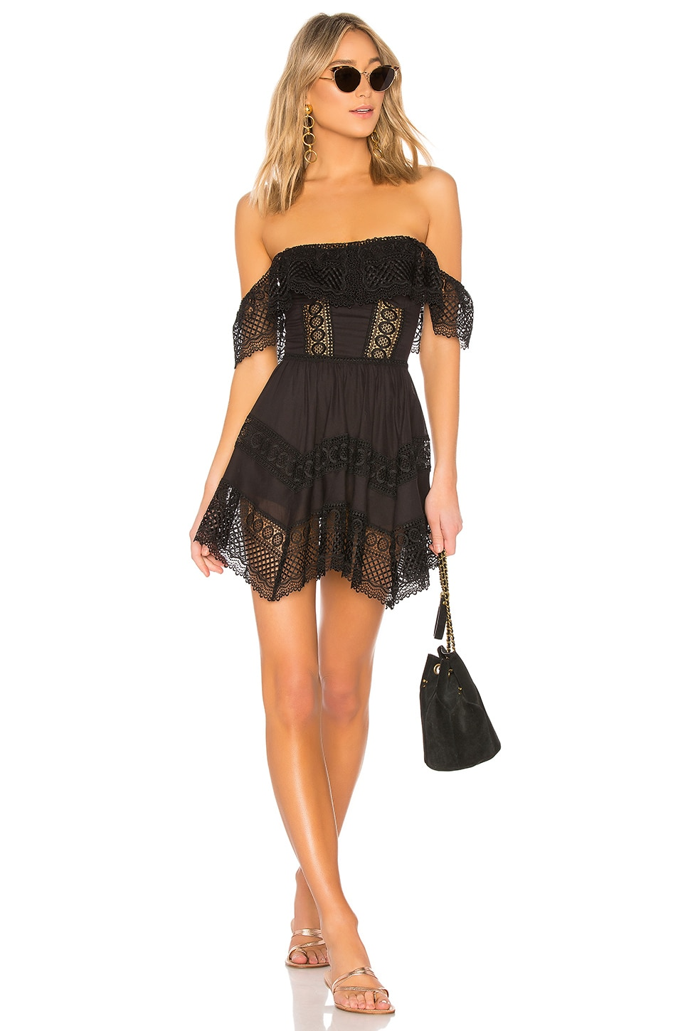 Charo Ruiz Ibiza Vaiana Dress in Black