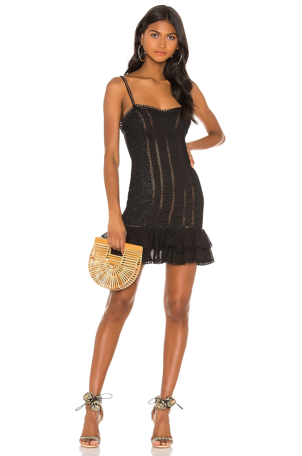 Charo Ruiz Ibiza Rida Dress in Black