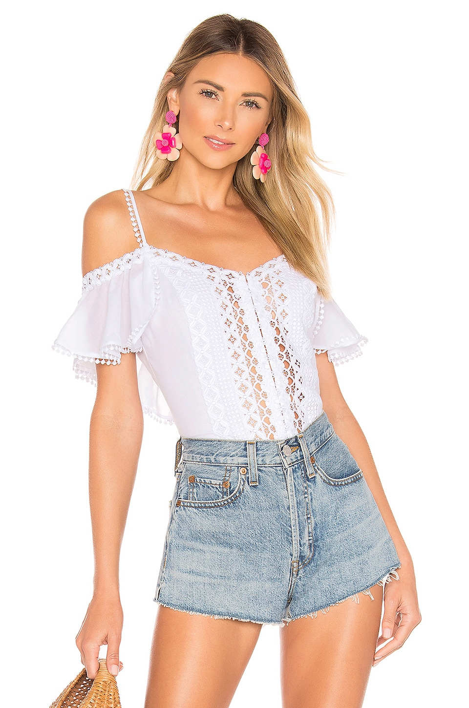 Charo Ruiz Ibiza Emi Top in White