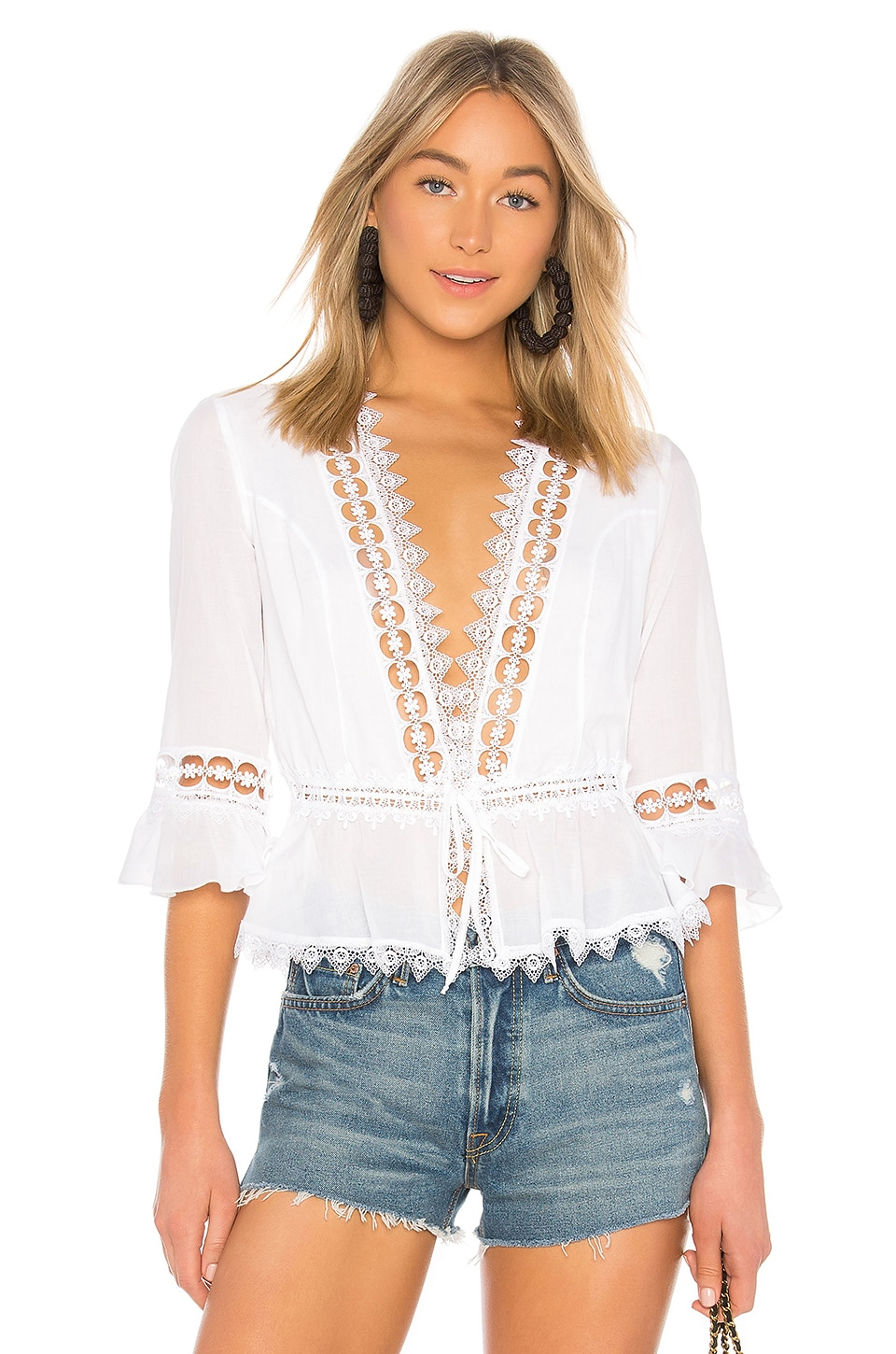Charo Ruiz Ibiza Edda Top in White