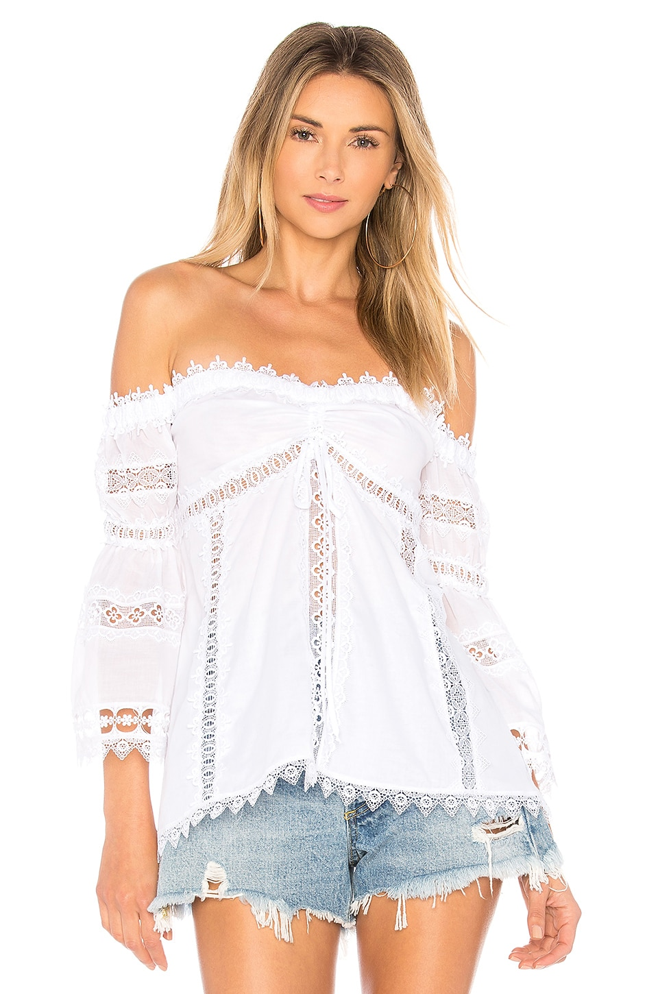 Charo Ruiz Ibiza Maya Blouse in White